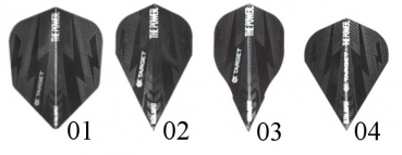 Target Power Bolt Black Flights  (3er Satz)