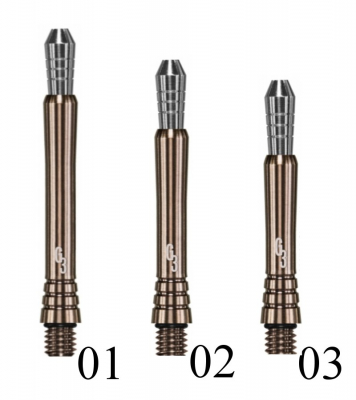 Target Titanium Shaft Generation 3 Silica Shaft (3er Satz)