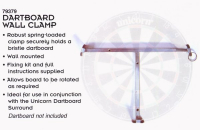 Unicorn Dartboard Wall Clamp (ohne Dartboard)